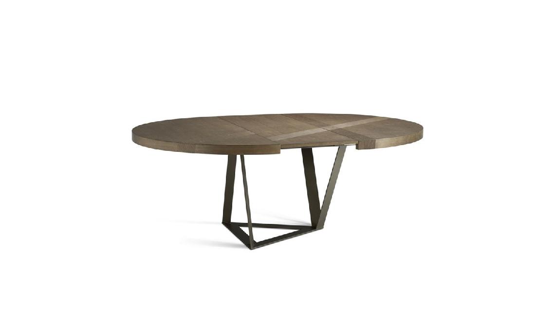 Tavolo Tondo In Legno Allungabile.10 Tavoli Rotondi E Ovali Per La Sala Da Pranzo Casafacile
