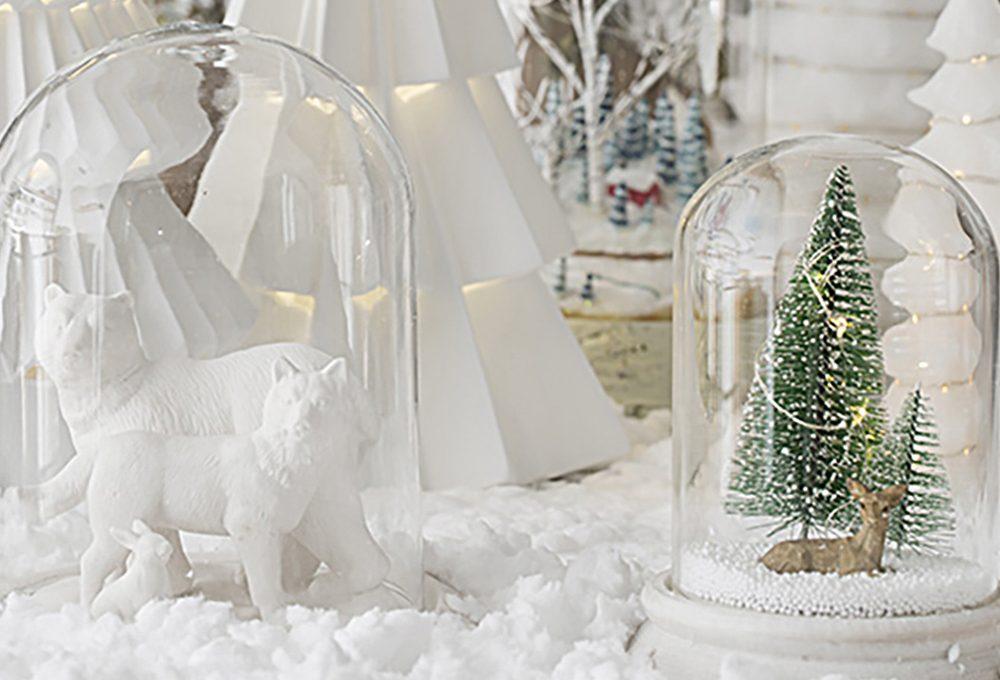 Natale: decorare con le campane di vetro