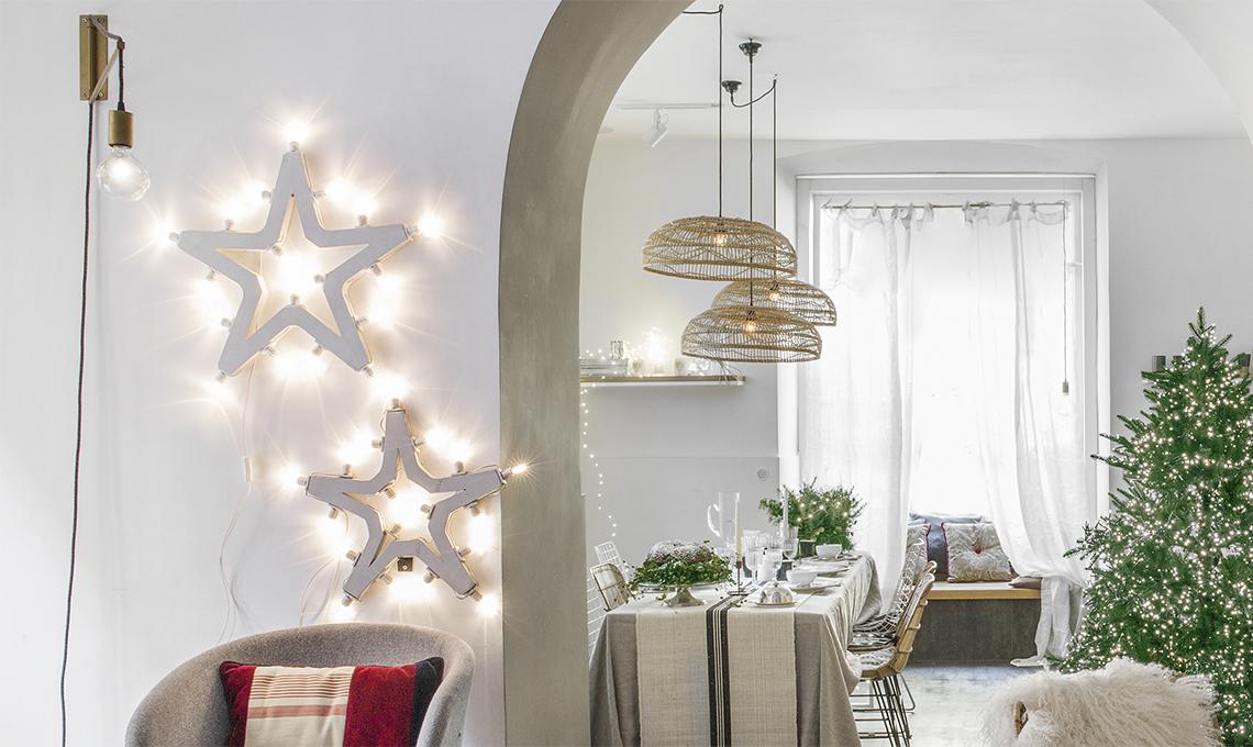 Illuminazione da esterno per natale decorazioni natalizie da