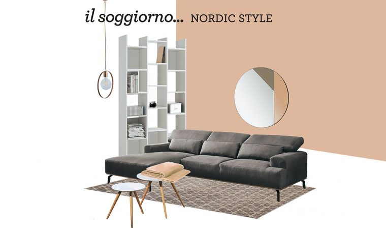 Crea un perfetto soggiorno 'nordic style' con gli arredi Mercatone Uno