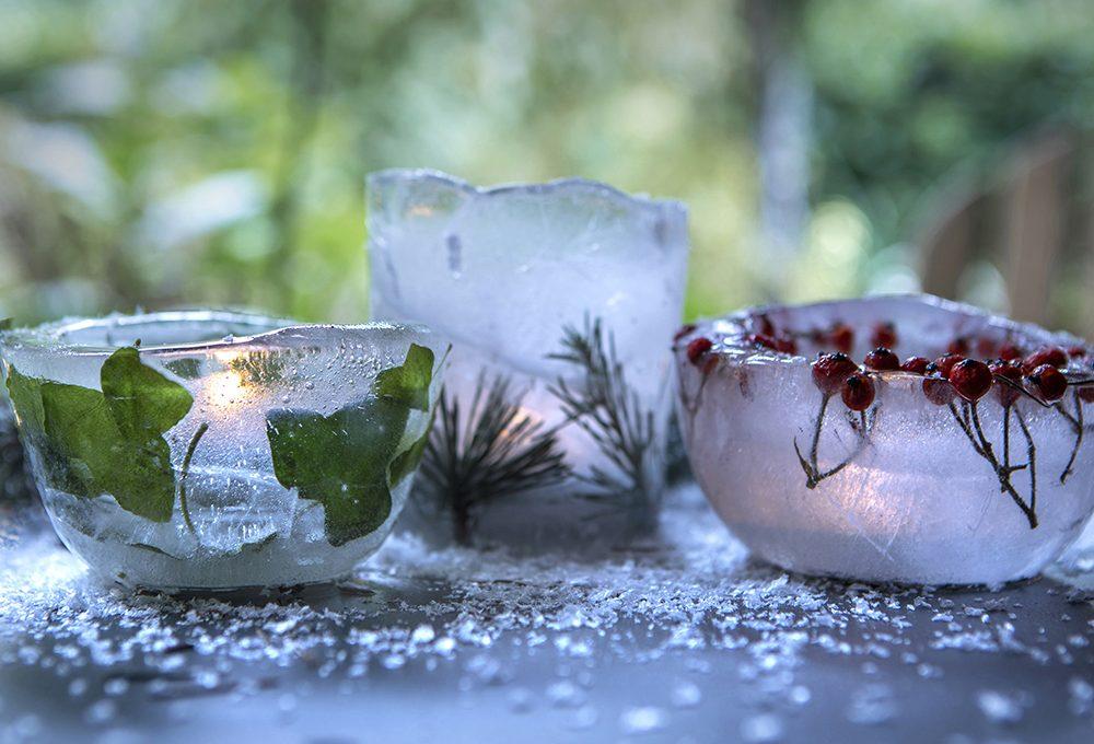 Come realizzare porta candele di ghiaccio