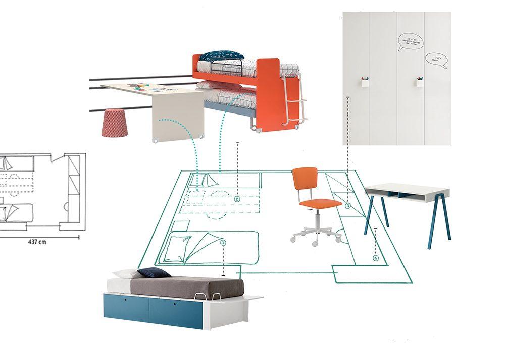 Le dimensioni ideali per organizzare la cameretta casafacile for Progettare la cameretta