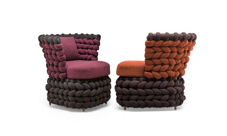 Il design reinterpreta la tendenza 'tricot'