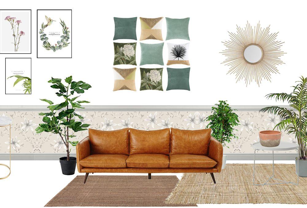 4 consigli per arredare il soggiorno in stile botanico