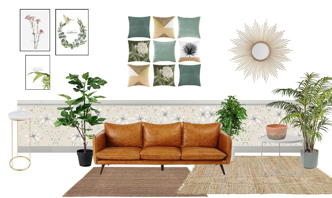 4 consigli per arredare il soggiorno in stile botanico ...