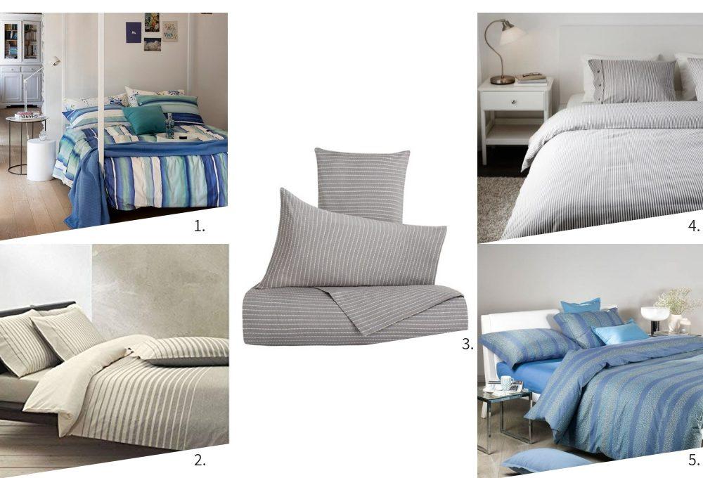 Vesti il letto con i copripiumini rigati