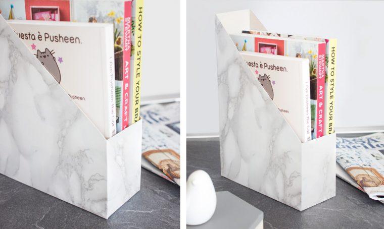 Trasformare la scatola dei cereali in un portariviste