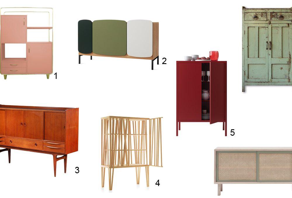 7 credenze tra vintage e design contemporaneo