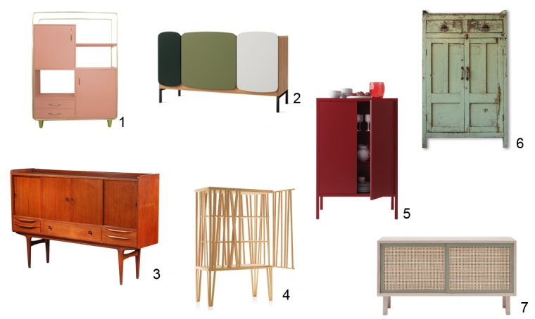 7 credenze tra vintage e design contemporaneo