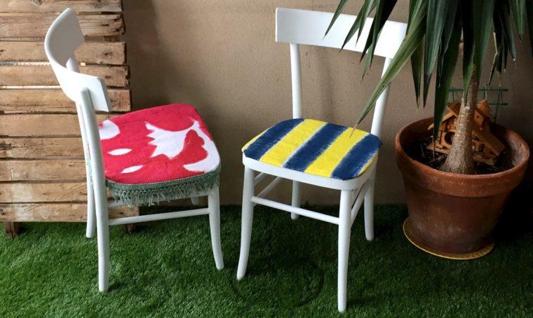 Dipingere in modo economico i tessuti per rinnovare le sedie