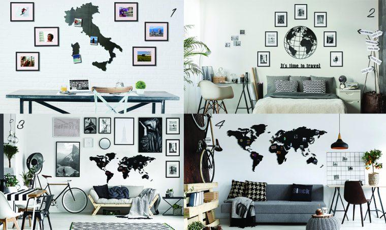 4 idee per decorare le pareti con i ricordi di viaggio