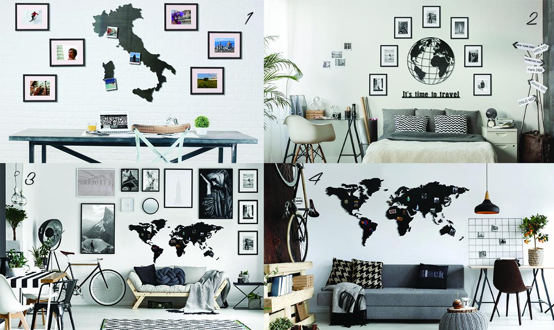Idee Pareti Foto : Idee per decorare le pareti con i ricordi di viaggio casafacile