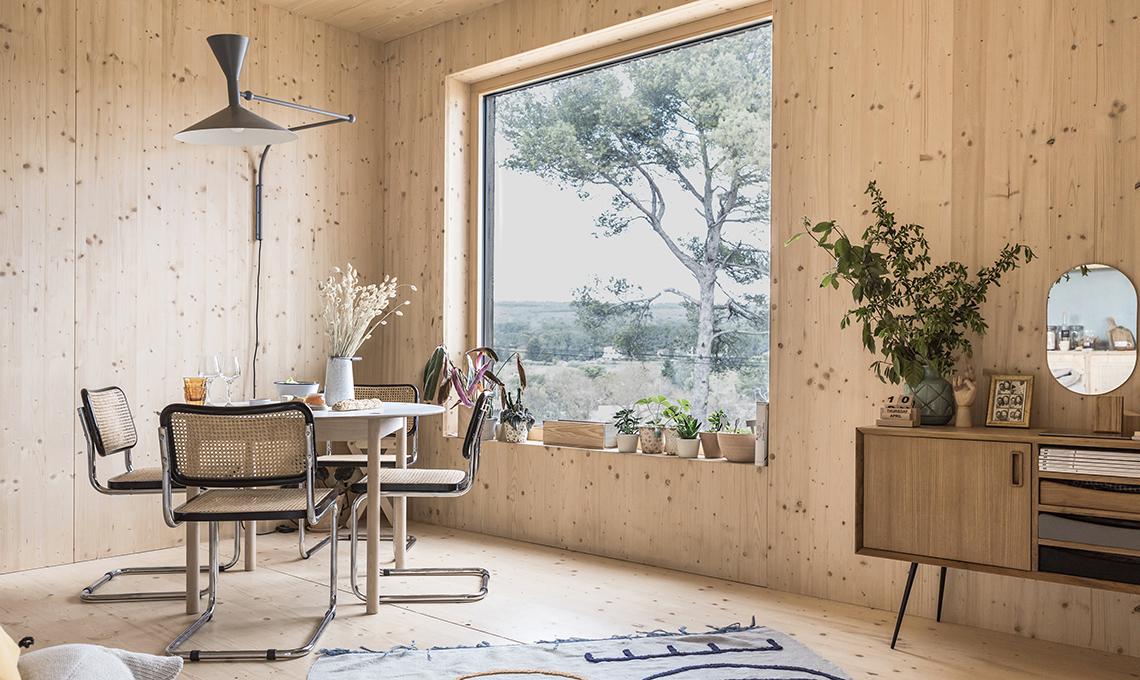 La villetta prefabbricata con rivestimento esterno in for Riviste di case