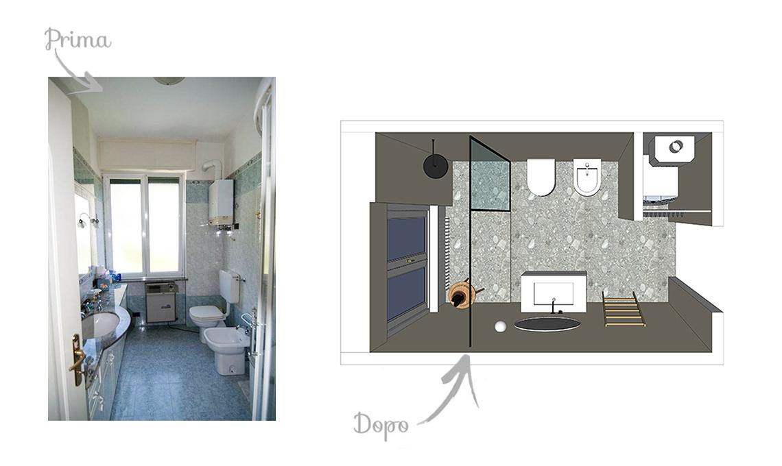 Bagno con doccia sotto la finestra great vanit creativo bagno