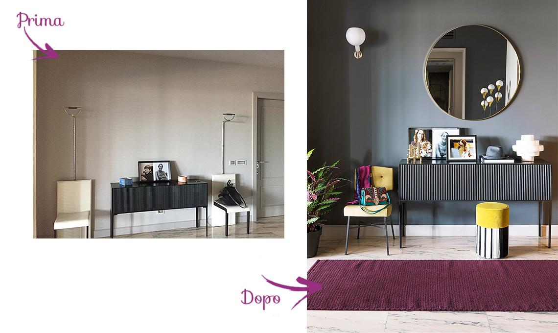 casafacile-prima e dopo-arredare-colori-forti-viola