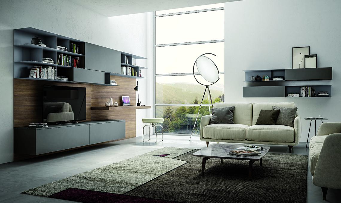 Realizzare l 39 angolo hi tech formato famiglia in salotto for Parete soggiorno ad angolo