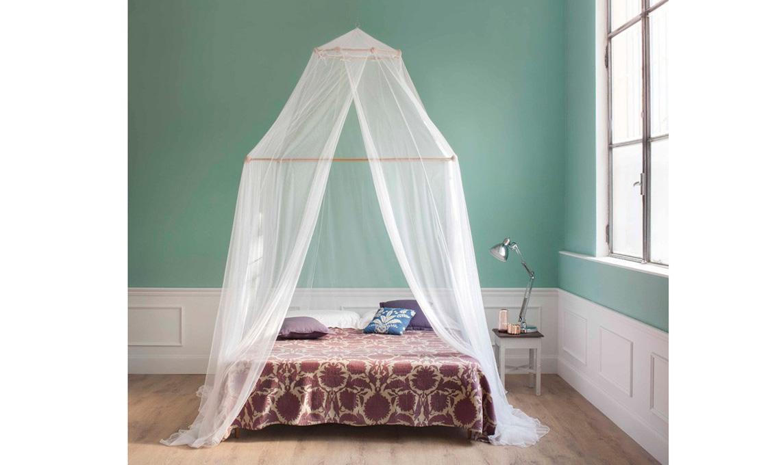 zanzariera per letto a baldacchino moderno