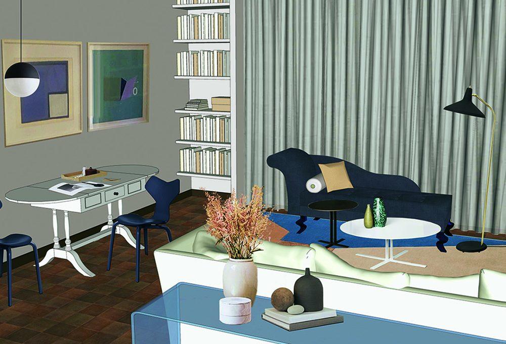 Rinnovare il living salvando i mobili d'epoca