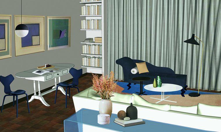 rinnovare soggiorno mobili d'epoca