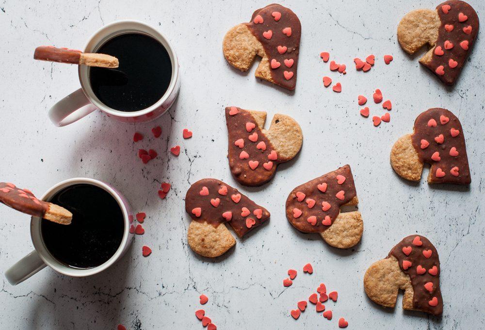 Biscotti da tazza per la colazione di San Valentino