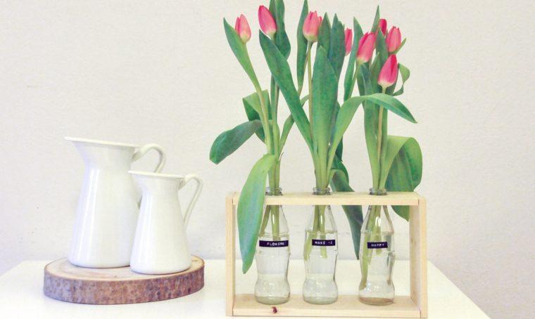 Realizzare un vaso fai-da-te riciclando le bottiglie di vetro