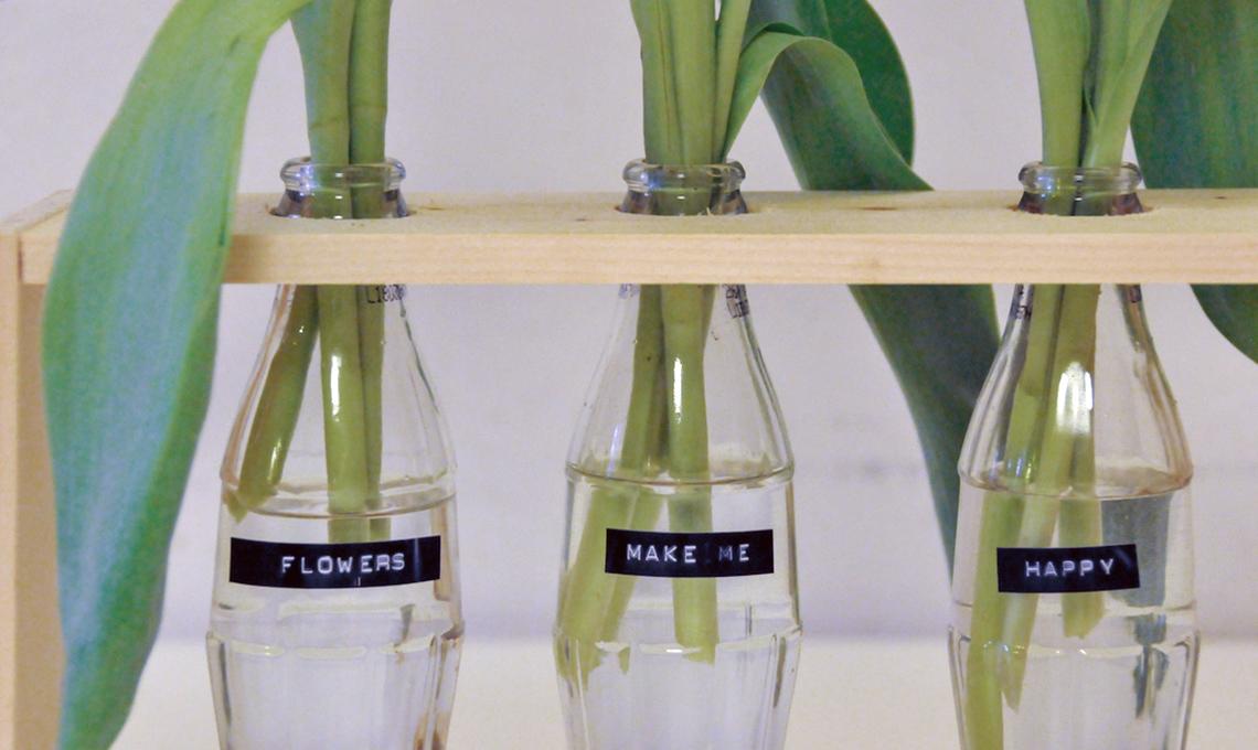 vaso fai da te in vetro