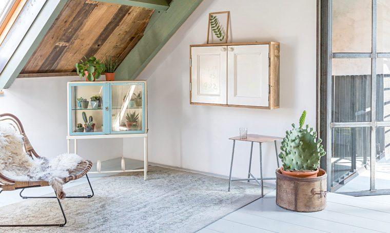 Come trasformare una vetrinetta vintage in una serra per le succulente