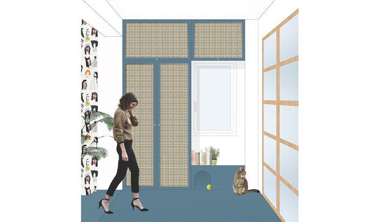 Come realizzare un armadio con le ante in paglia di Vienna