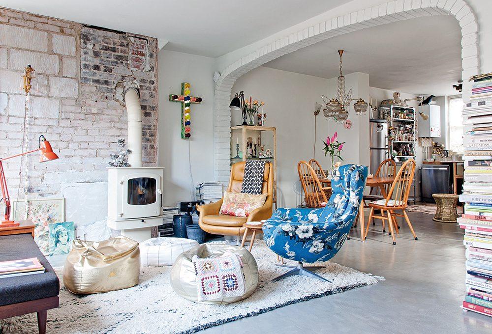 Mix curiosi per una casa in stile romantico e kitsch