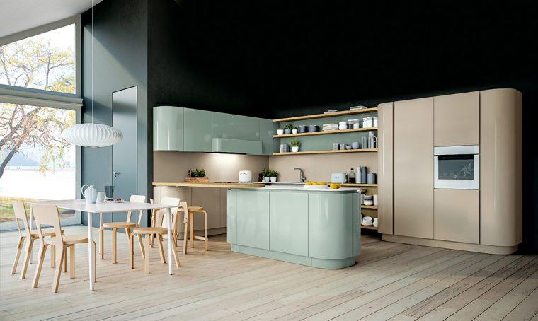 Tendenze in cucina: arredi dalle linee curve