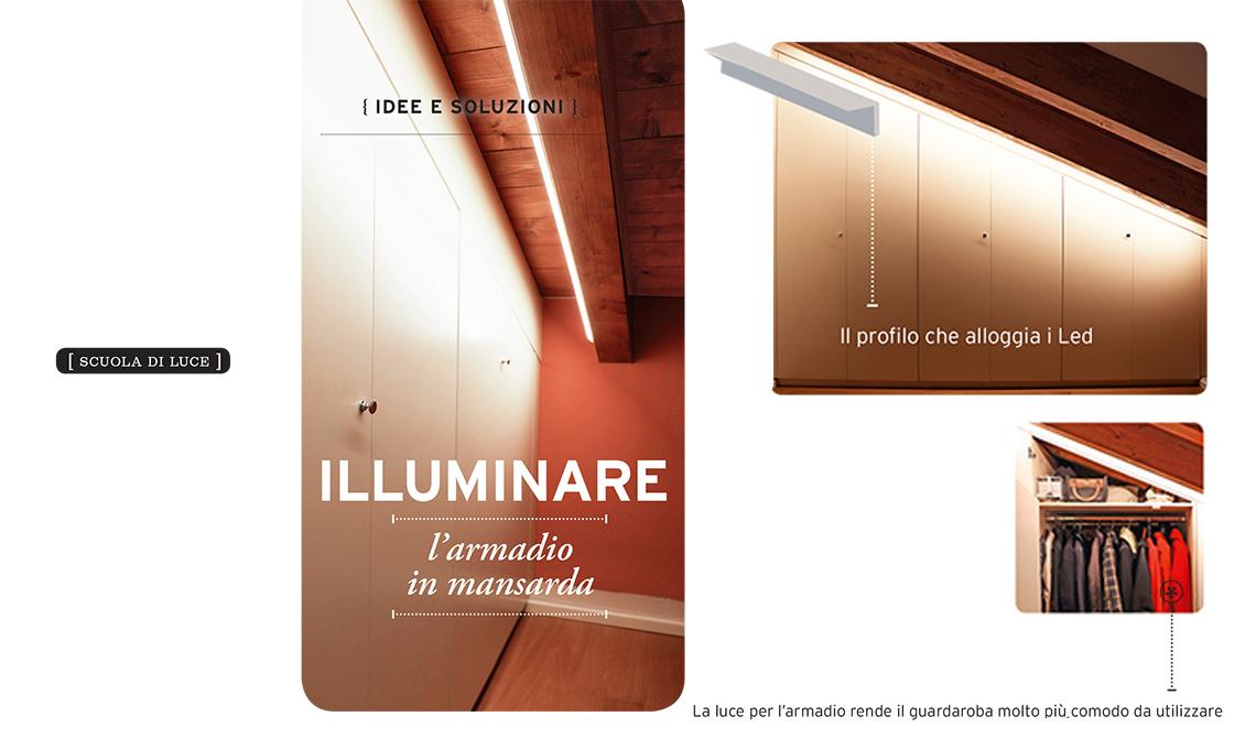 Come illuminare l armadio in mansarda casafacile
