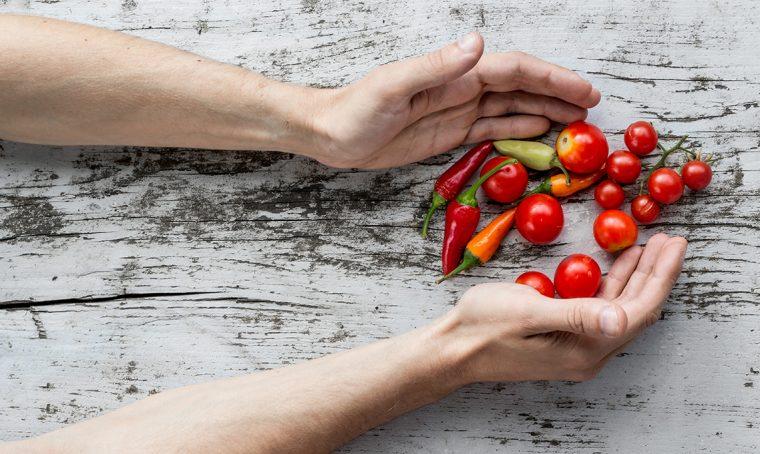 Come realizzare un centrotavola con le verdure