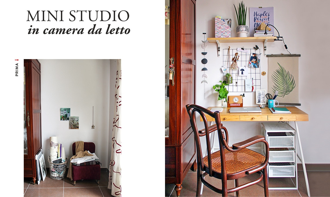 Come creare un mini studio in camera da letto - CasaFacile