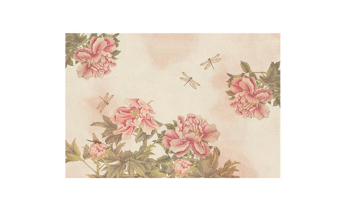 Tessile e carta da parati floreali