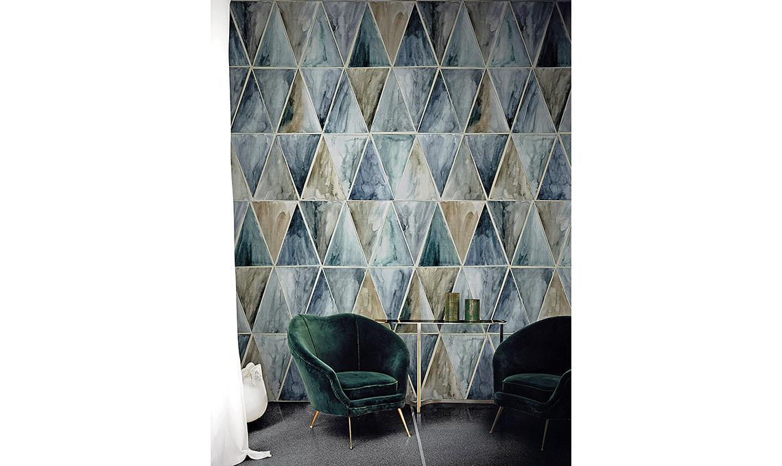 tessuti e carte da parati geometriche vintag