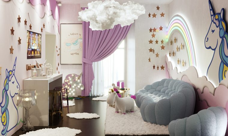 Unicorn House, una casa per i fan dei coloratissimi unicorni