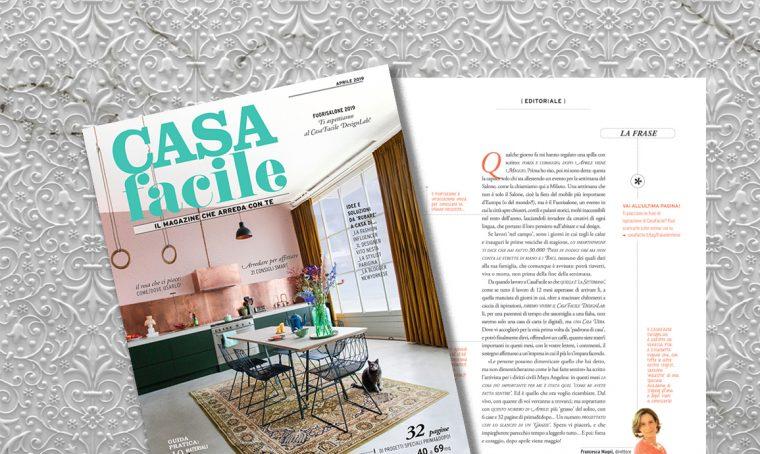CasaFacile di aprile 2019: l'editoriale del direttore