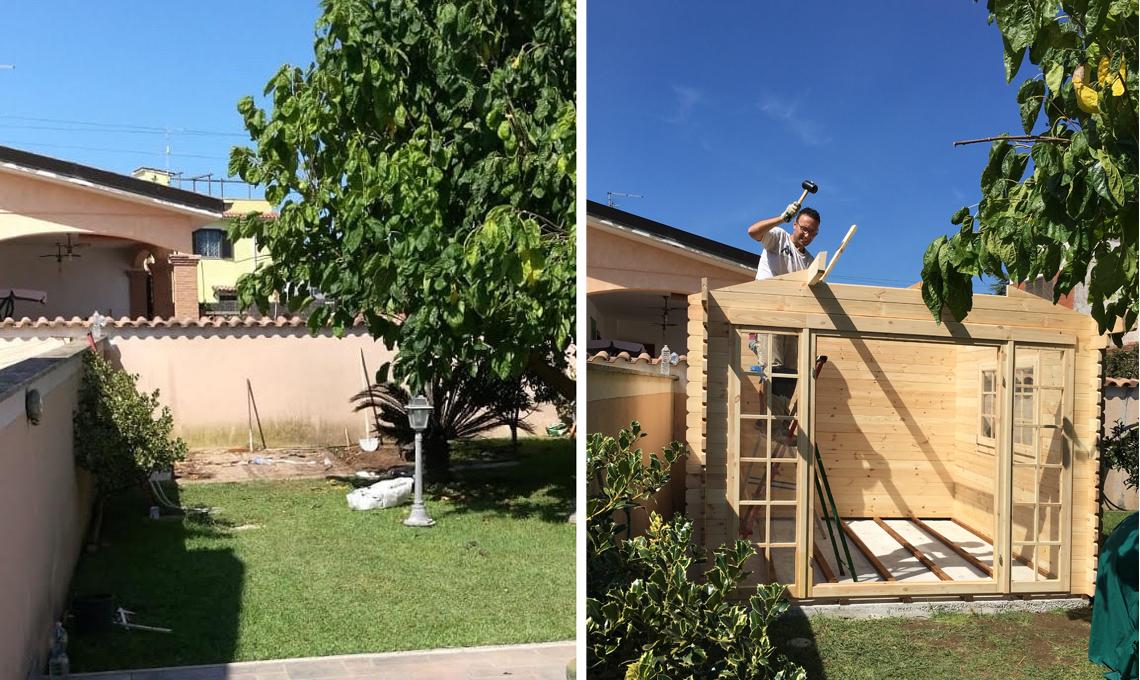 casetta legno fai da te