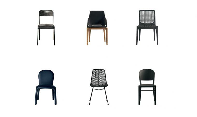 8 sedie nere adatte ad ogni stanza della casa