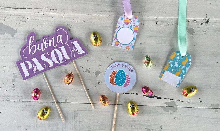 Decorazioni e tags stampabili per Pasqua