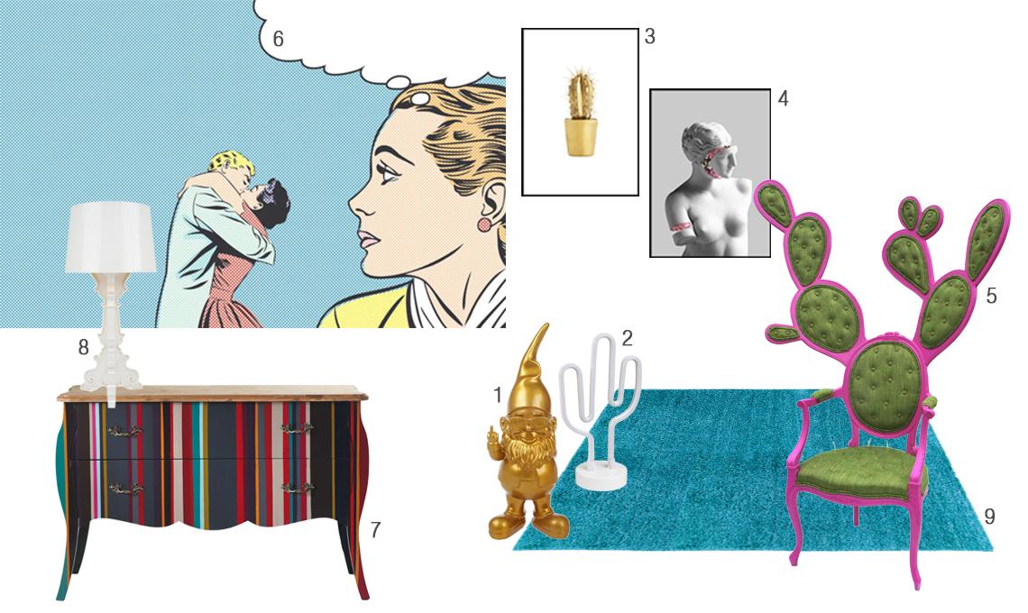 Arredamento Stile Pop Art : Arreda la tua casa in stile pop art casafacile
