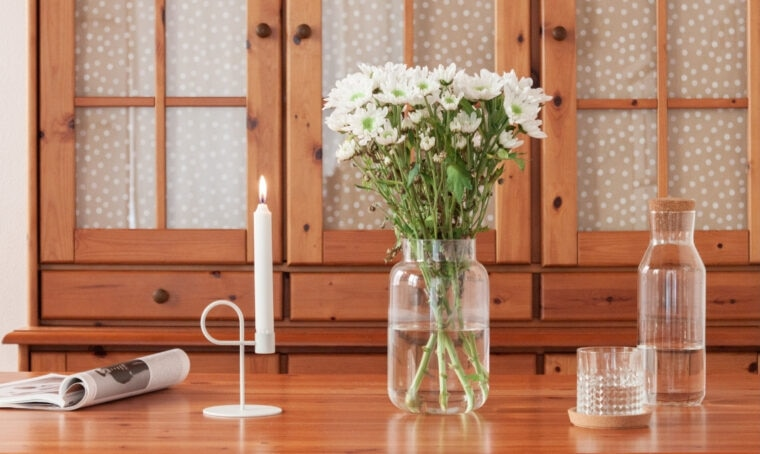 Soluzione a basso costo per personalizzare la madia di una casa in affitto