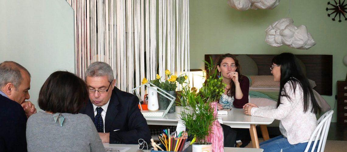 Le consulenze degli architetti CF style e dell'esperto di Edison, l'ingegnere Elena Perini.
