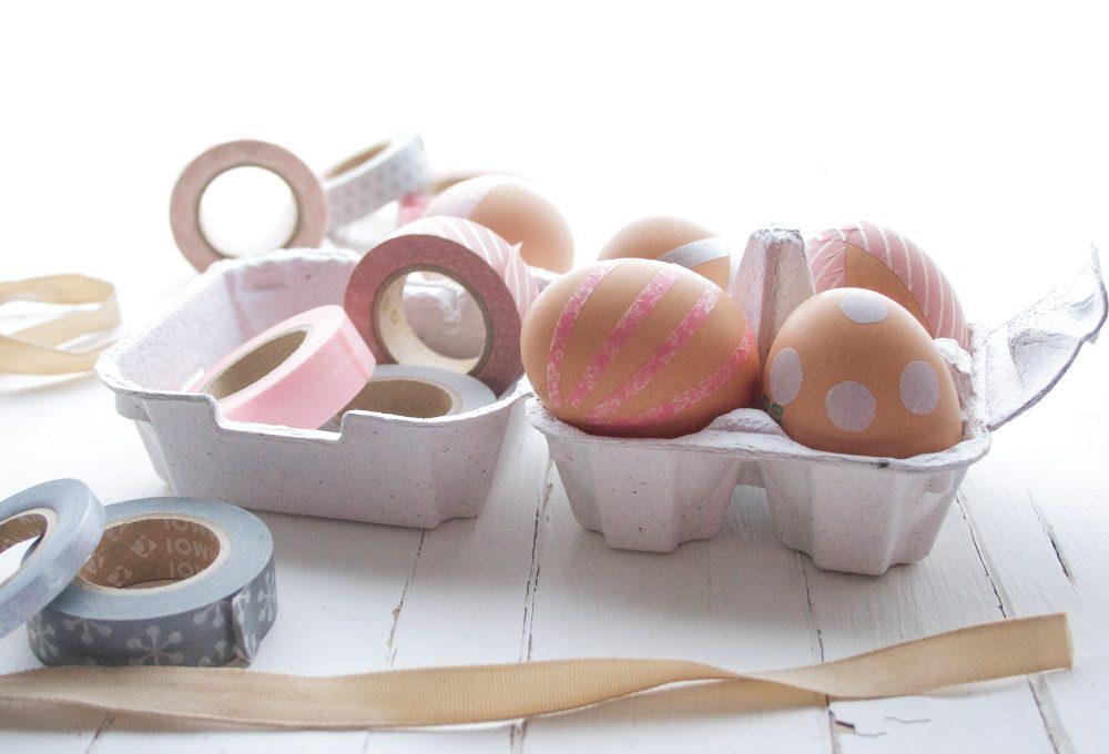 Come decorare le uova pasquali con i washi tape