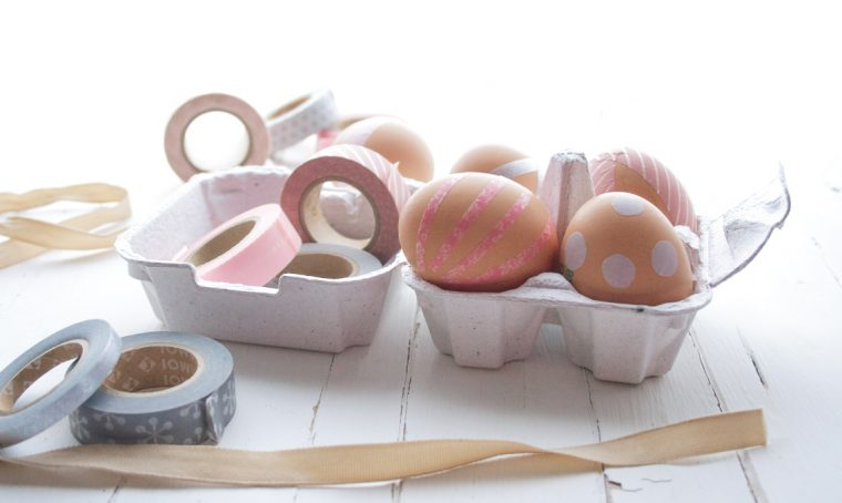 Come decorare le uova pasquali con i washi tape