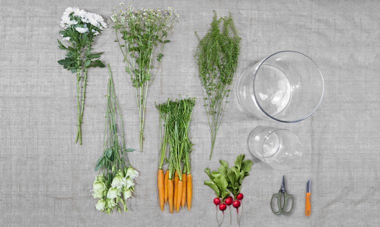 Come si fa la Matrioska di fiori e verdure