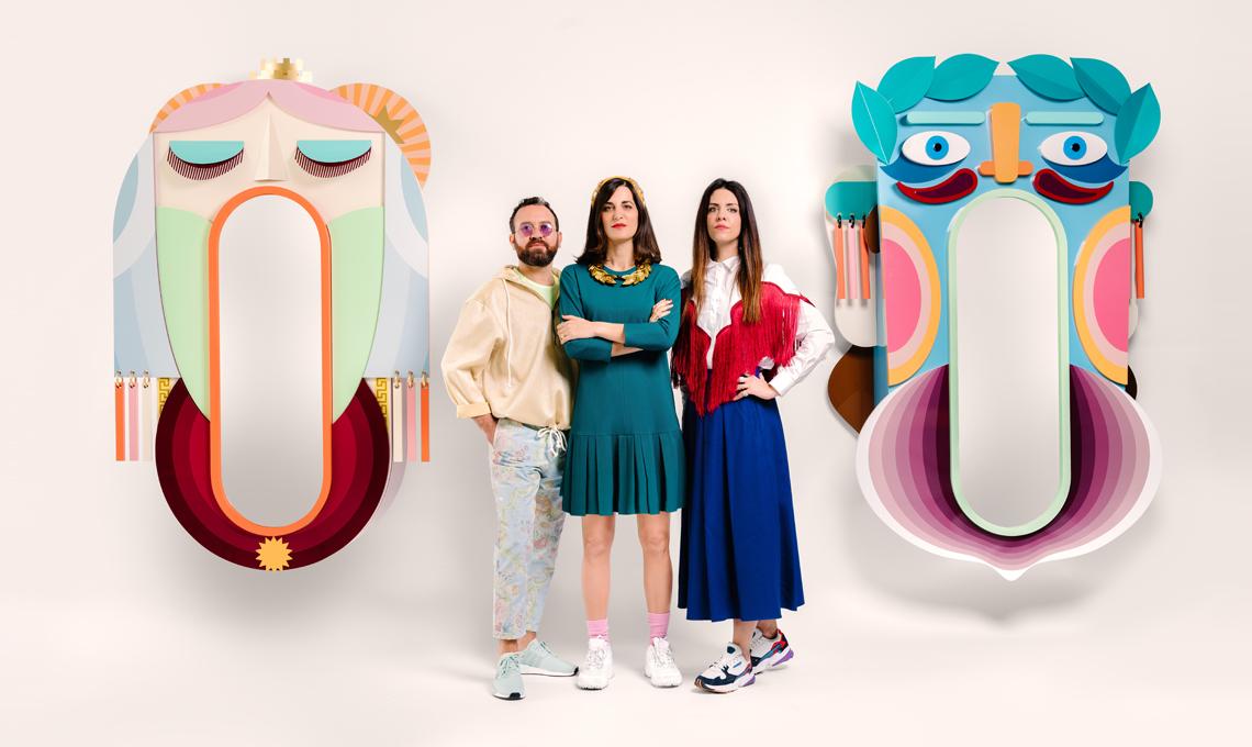 Mata e Grifo, altreforme / nella foto Antonio Aricò, Valentina Fontana ed Elena Salmistraro
