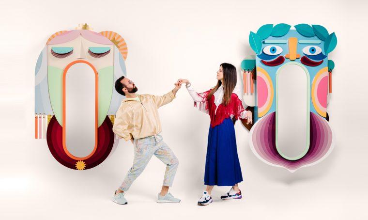 Mata e Grifo, altreforme / nella foto i designer Antonio Aricò, ed Elena Salmistraro