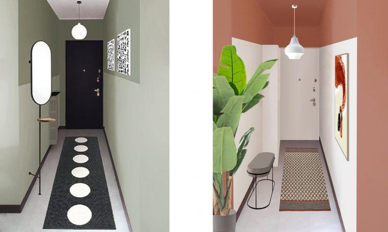 3 progetti per un ingresso e un corridoio accoglienti