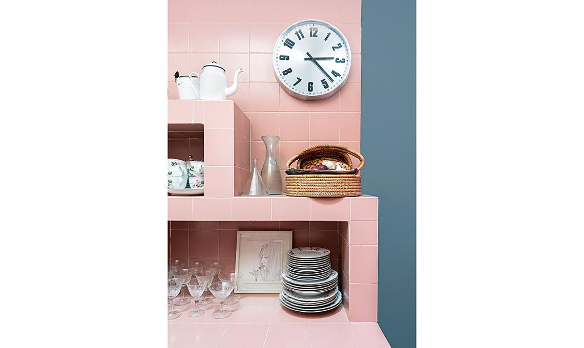 casafacile-casa-cucina rosa-soppalco